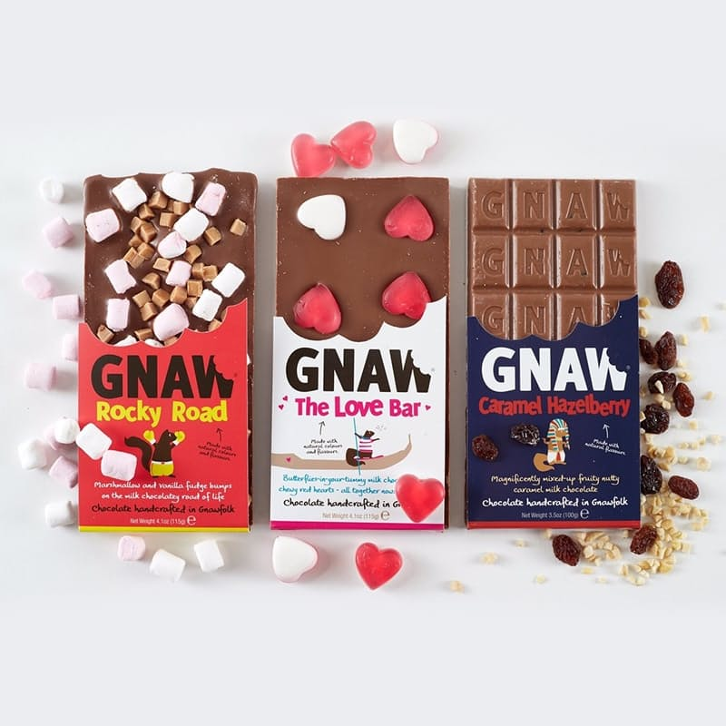 Pack of 12, 100g Gnaw Premium Handcrafted Slabs (R24.91 per Slab)