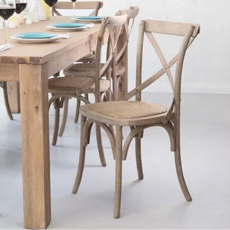 Solid Oak French Country Style Chair