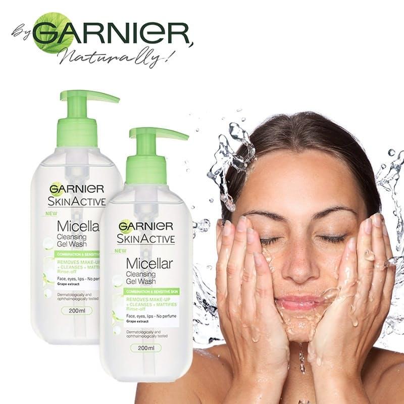 Pack of 2 Micellar Water Gel Face Wash - 400ml Total