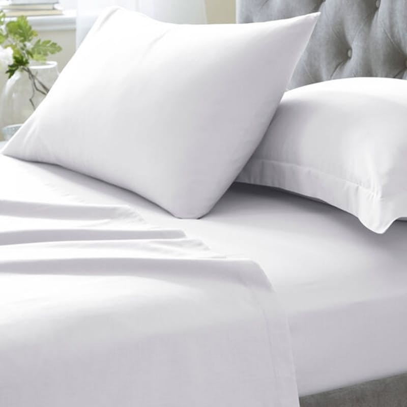 200 Thread Count 100% Cotton Fitted or Flat Sheet