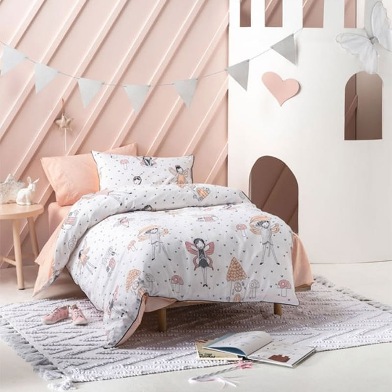 Enchanted Peach Duvet Cover Set (with Standard Pillowcase)