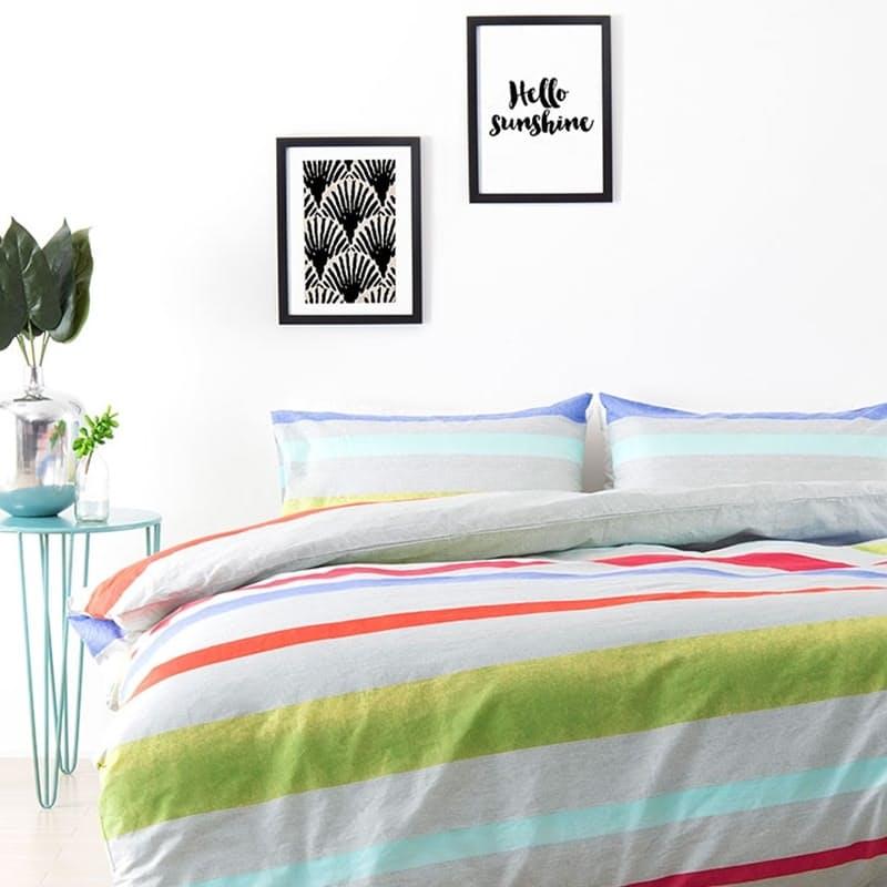 Havana Multi-Coloured Duvet Cover Set (with Standard Pillowcases)