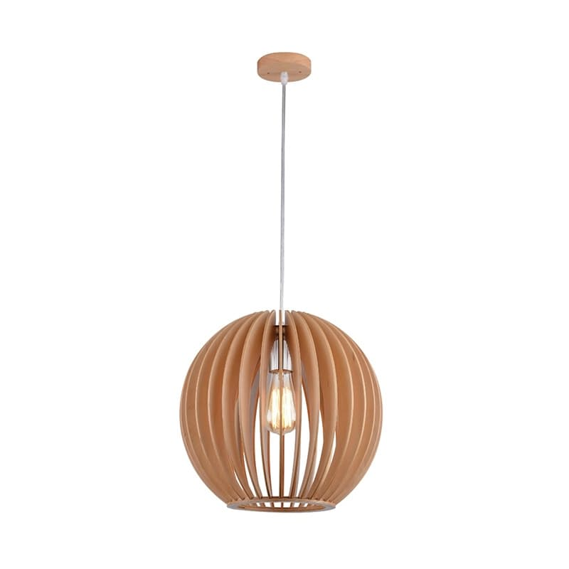 34cm Wooden Scandinavian Pendant Light