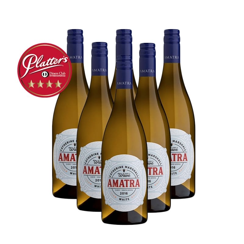 "Amatra Chenin Blanc ""Jono's Wave"" 2016 (R74,83 per bottle, 6 bottles)"