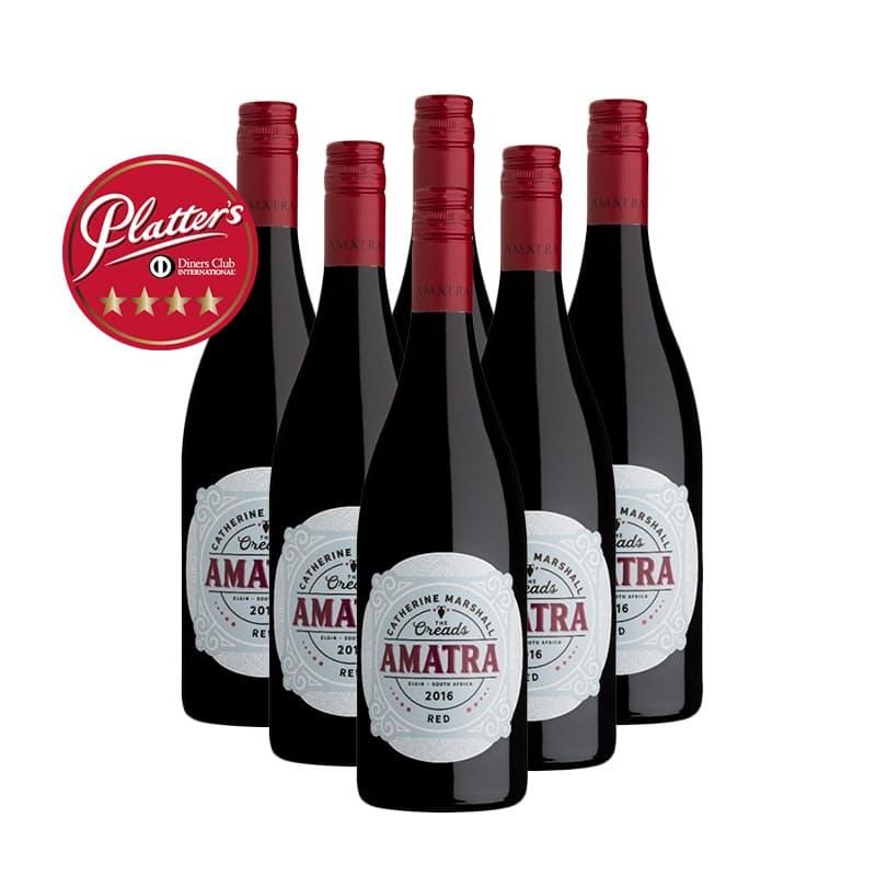 """Amatra Merlot  """"The Oreads"""" 2016 (R83.16 per bottle, 6 bottles)"""