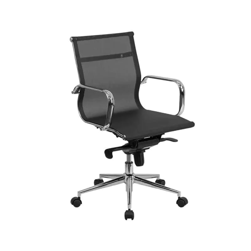 The Kennedy Aluminium Mid-Back Mesh Office Chair