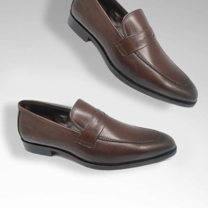 Men's Slip-On Brown Leather Shoe