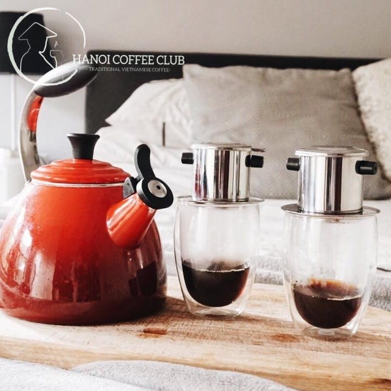 2x Vietnamese Phin Coffee Makers + 2x 250g Premium Arabica Medium Roast Ground Coffee