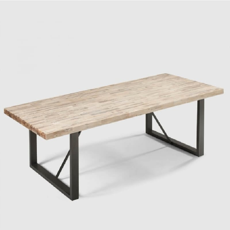 Acacia & Steel Dining Table