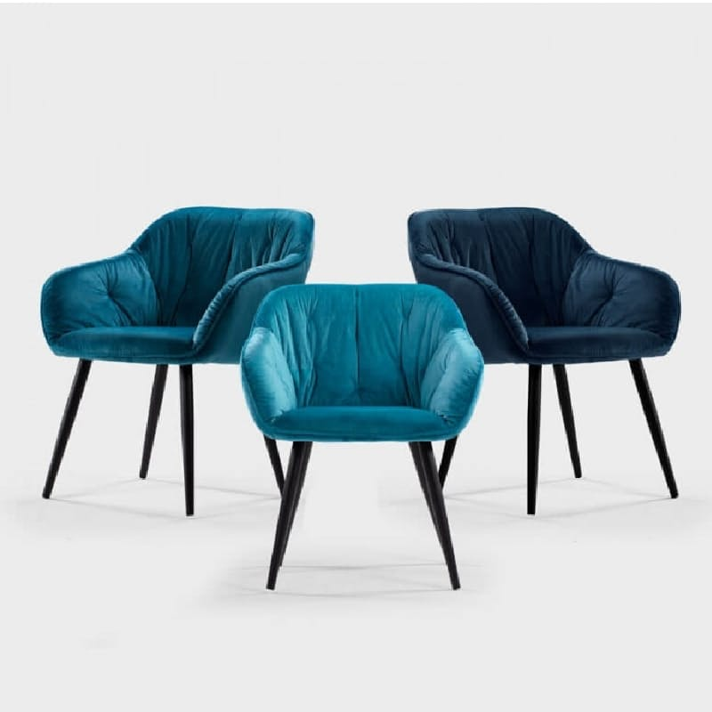 Modern Velvet Upholstered Dining Chairs