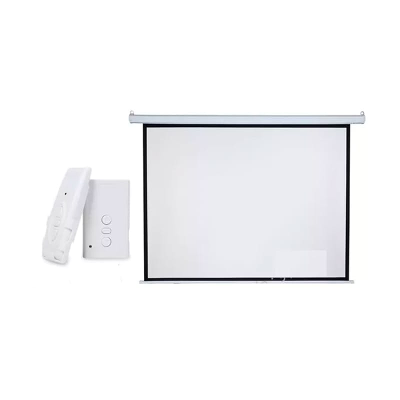 """100"""" Electric HD Projector Screen with Remote"""