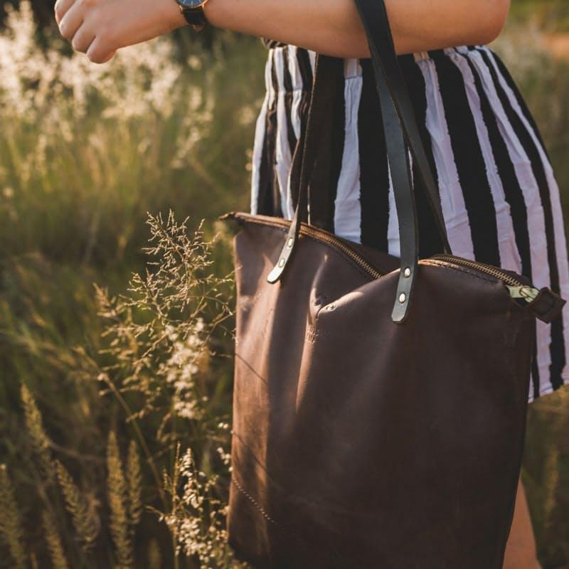 Genuine Leather Zepporah Shopper