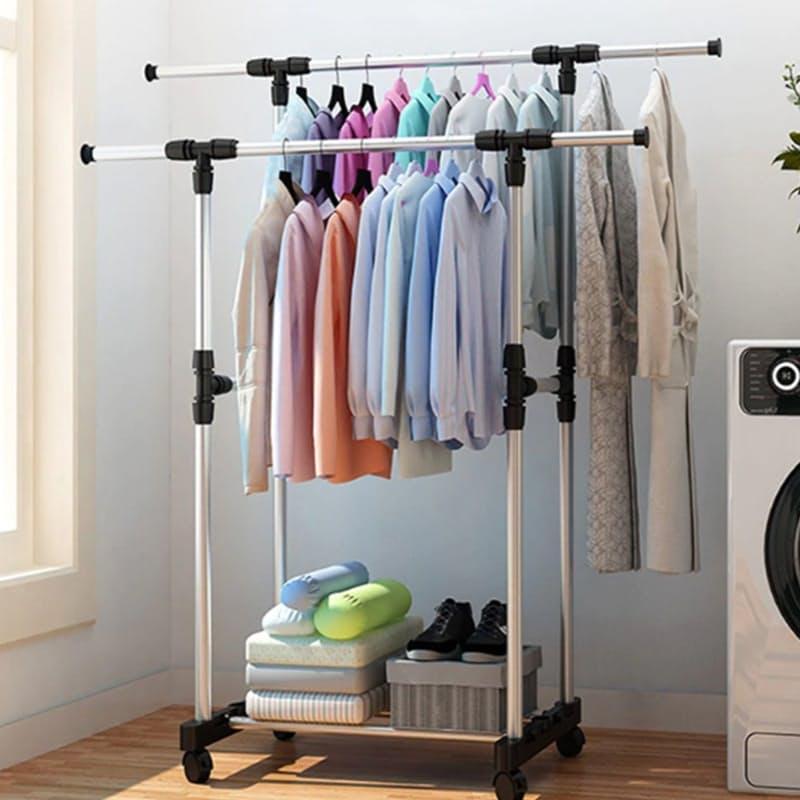 Double Pole Clothing Rail