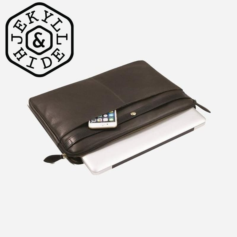 "RFID Secure Genuine Leather Woodstock 13"" or 15"" Laptop Folder"