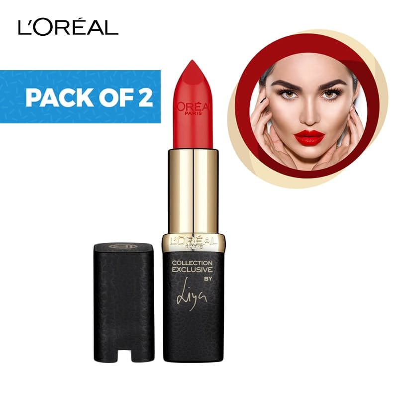 Pack of 2 Colour Riche Collection Exclusive Liya Red Lipstick