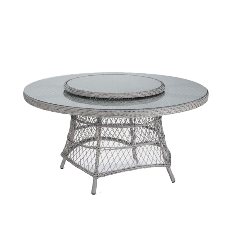 Round 6-Seater Patio Dining Table