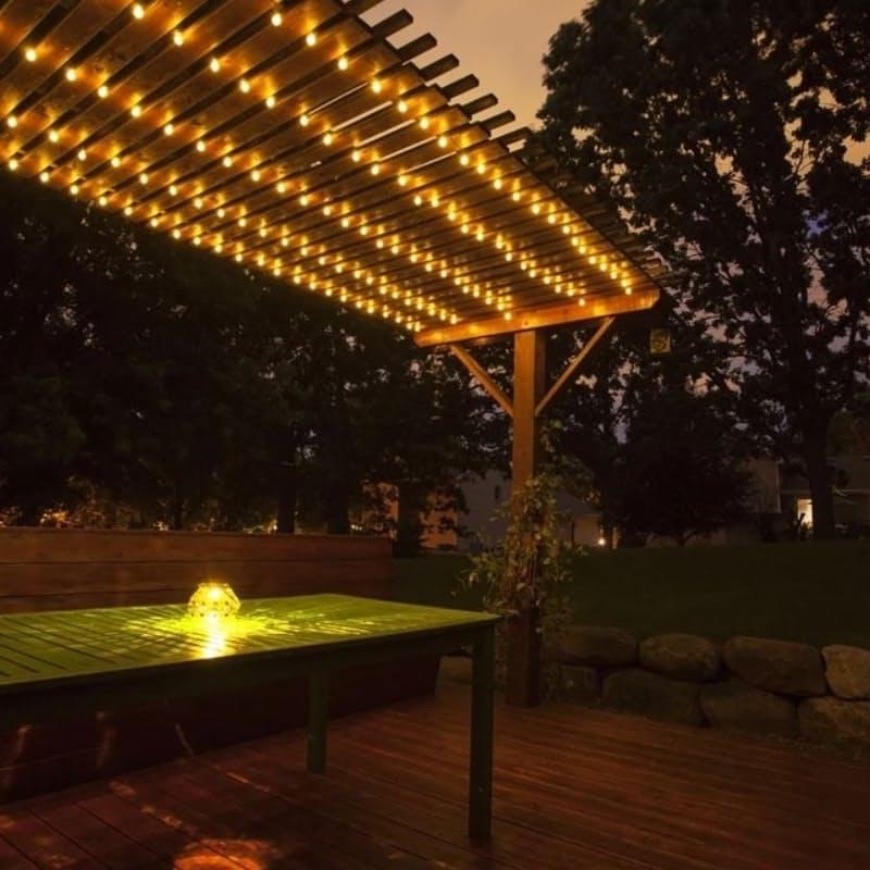 Solar Decorative Milky Bulb String Lights