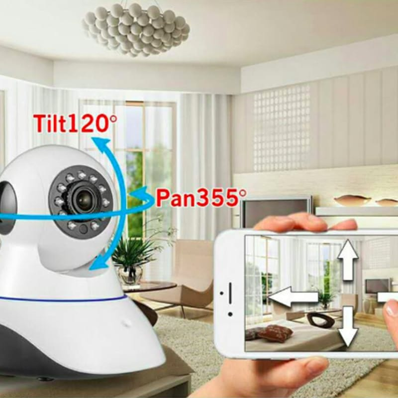 360-Degree Wireless Mountable Indoor HD Baby Monitor with Two-Way Audio