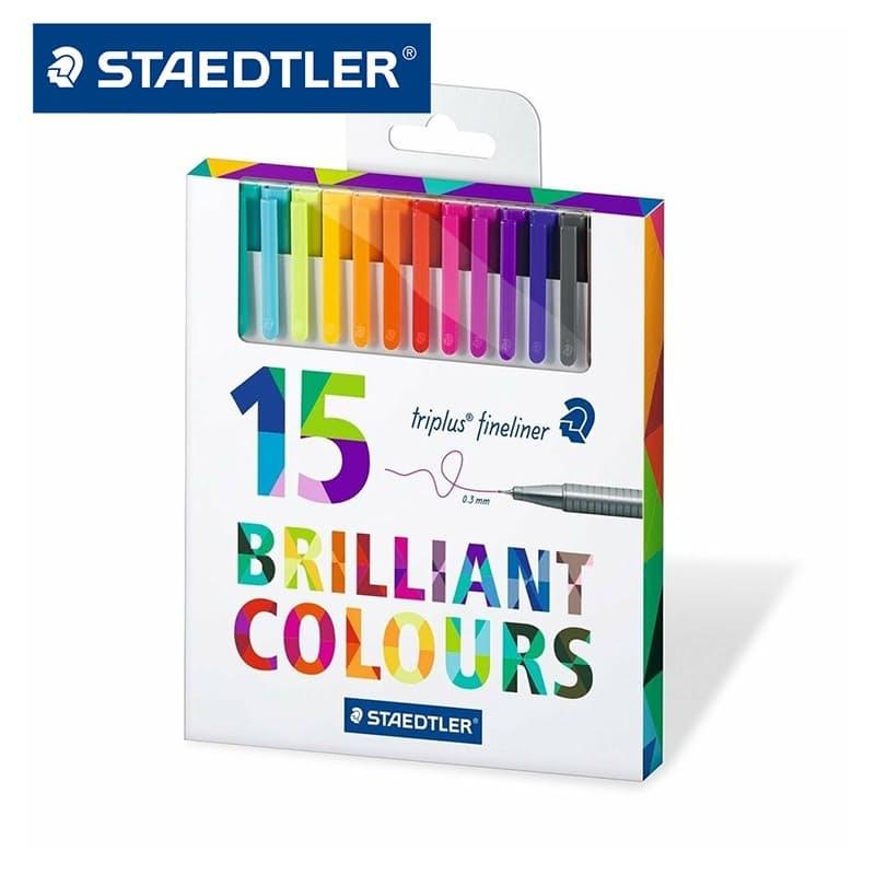 15 Brilliant Colours Triplus Fineliner Pens