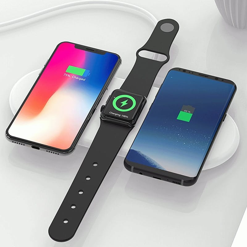 3-in-1 Wireless Charging Pad (Compatible with iPhone and Android)