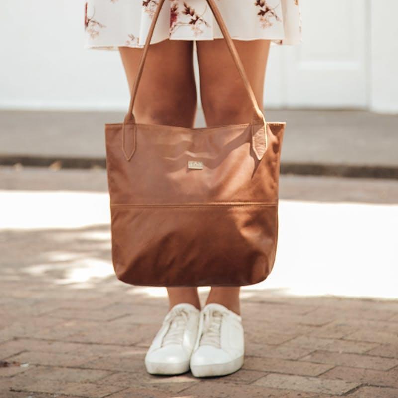 Ashley Genuine Leather Classic Tote Bag
