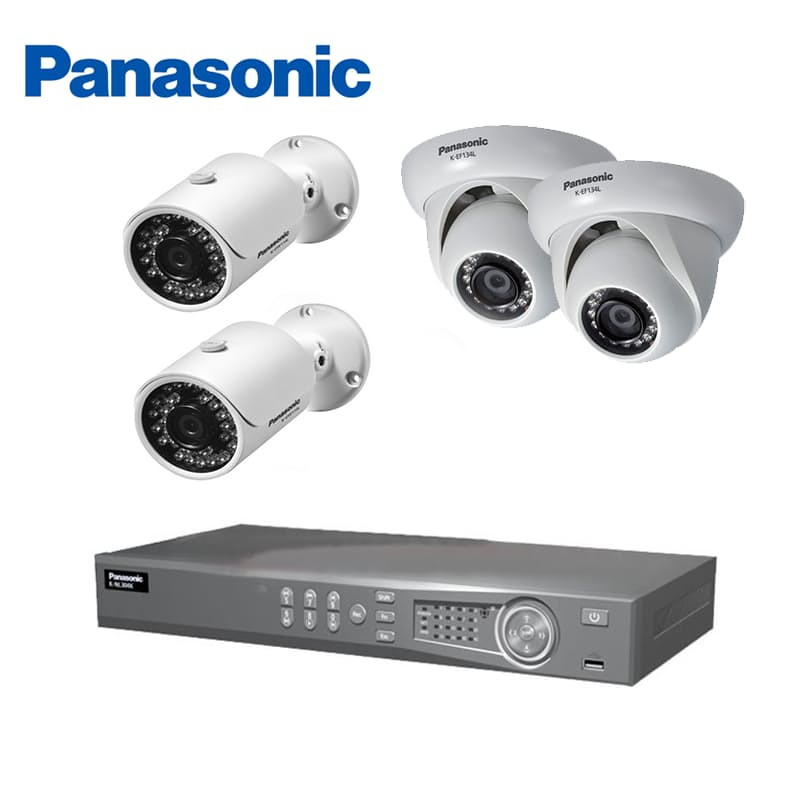 4 Channel CCTV Bundle (Including 4 Port NVR, 2 x Dome Cameras and 2 x Bullet Cameras)