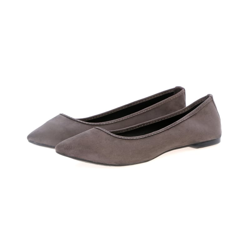 Suede-Feel Pointed Pumps