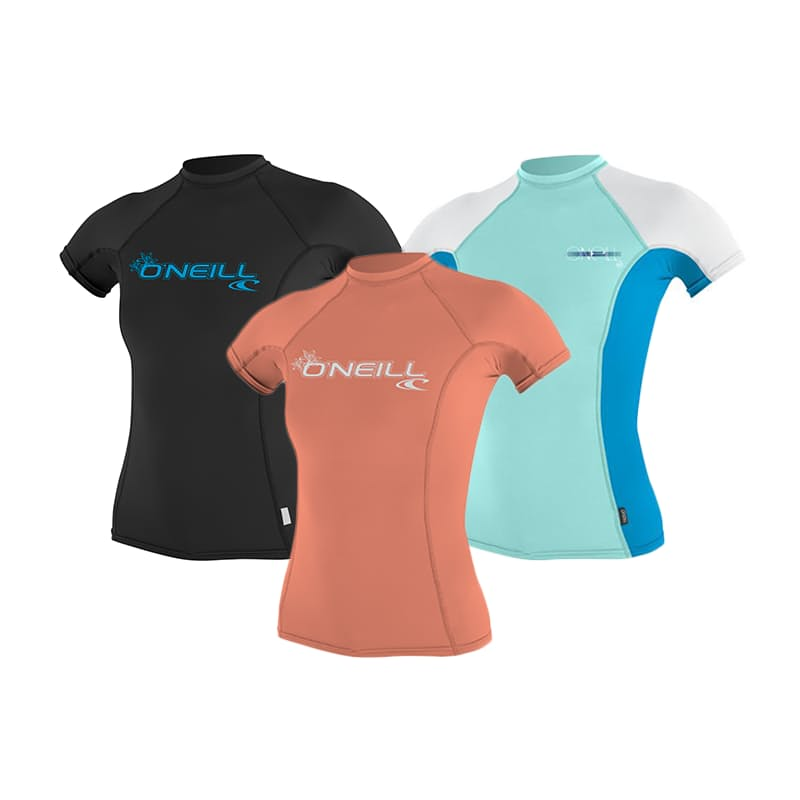 Ladies Basic Short Sleeve Crew Rash Vest