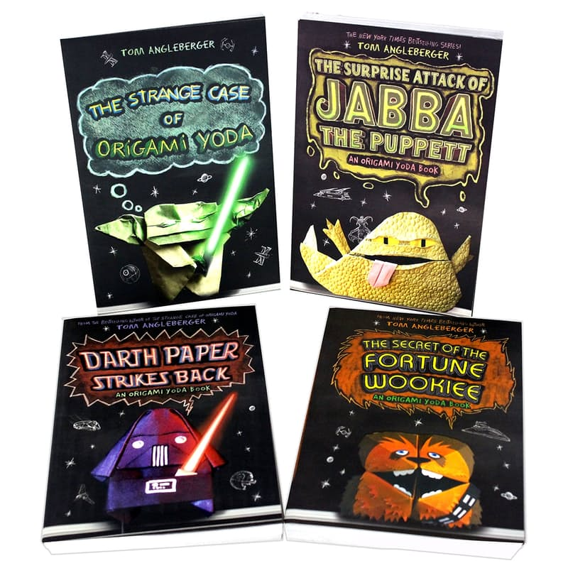 Strange Case of Origami Yoda Hardcover by Tom Angleberger Series Set of 5  books: Tom Angleberger: 0746278845201: Amazon.com: Books | 800x800