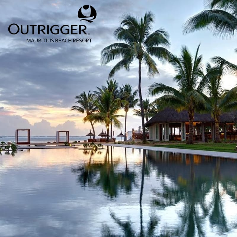 5-Night Stay in 5* Outrigger Beach Resort in Mauritius Including Flights, Airport Taxes, Return Transfers and Meals per Person