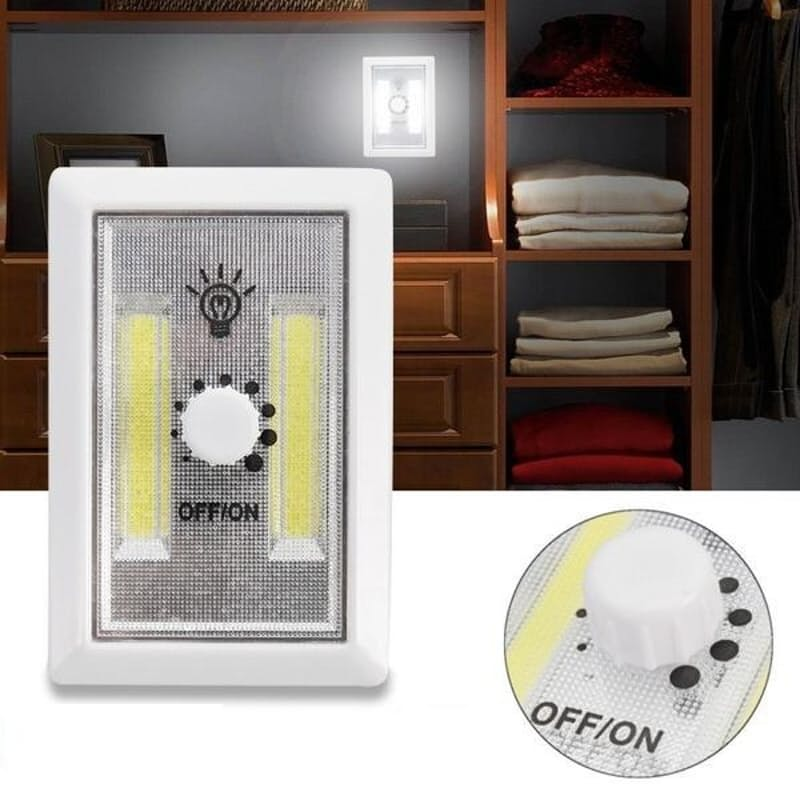Pack of 4 Battery Operated Self-adhesive Switch Lights
