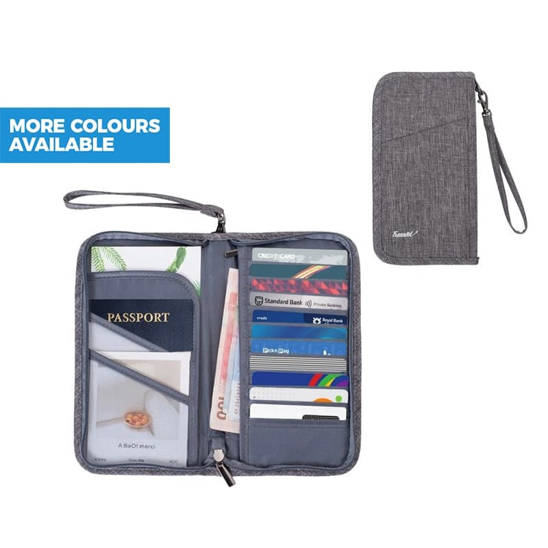 Water-resistant Passport Wallet With Strap