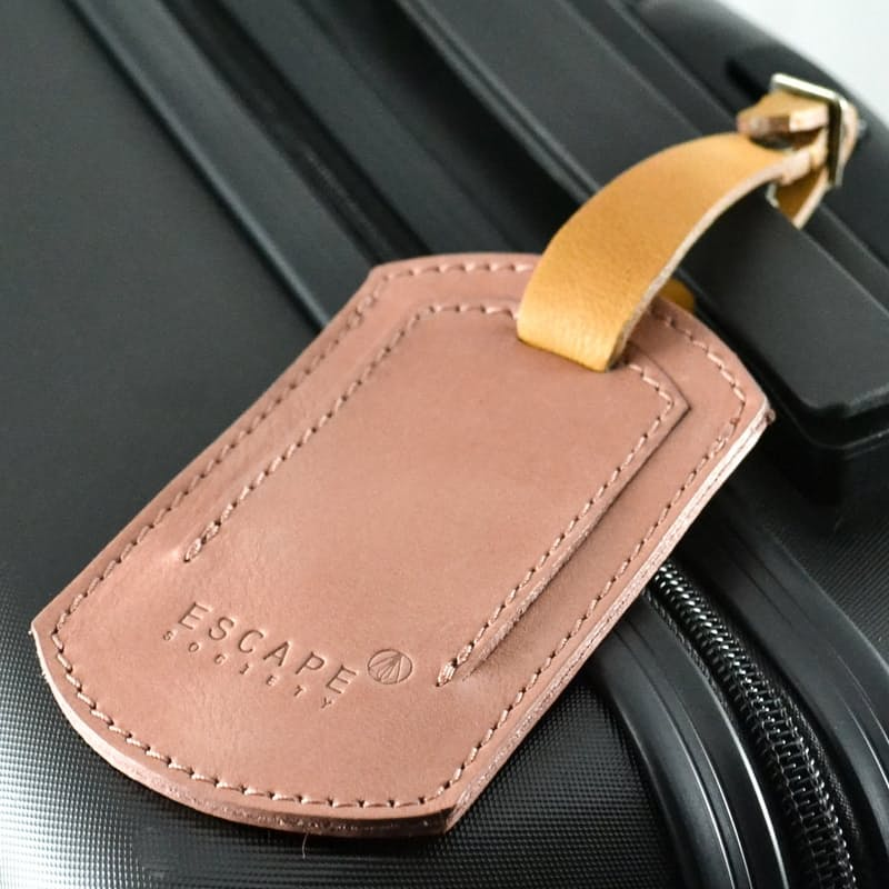Full Grain Leather Luggage Tag