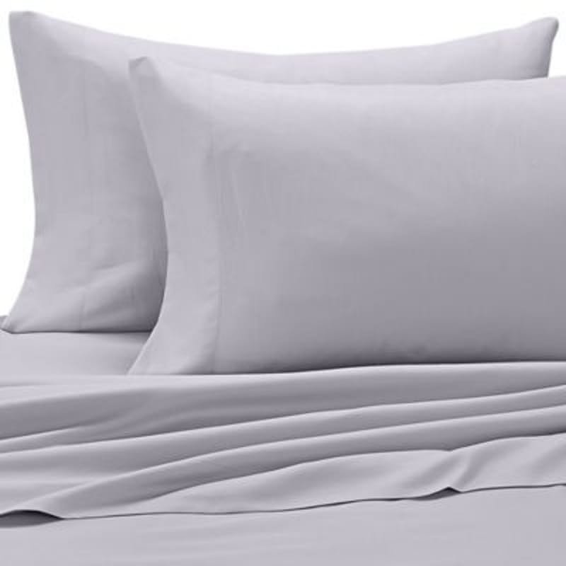 Set of 2 Plain or Oxford 200TC 100% Cotton Percale Pillow Cases