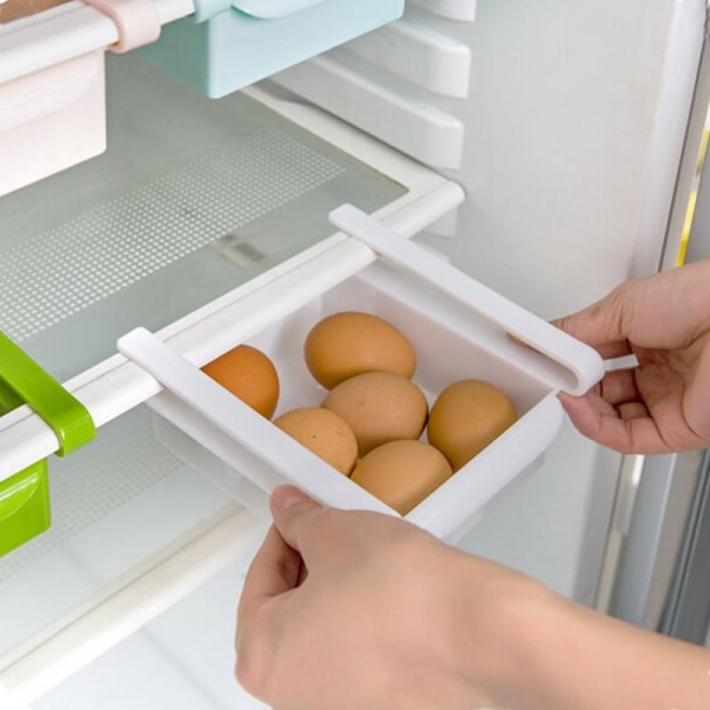 Set of 2 Refrigerator Storage Pull-out Sliding Drawers