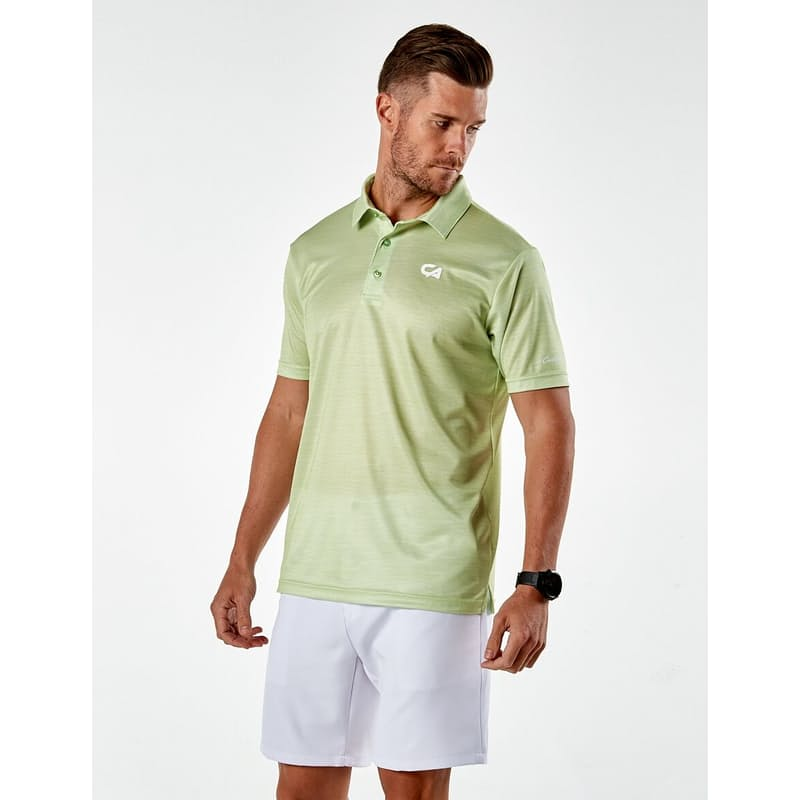 Men's Slub Moisture Wicking Golf Shirt