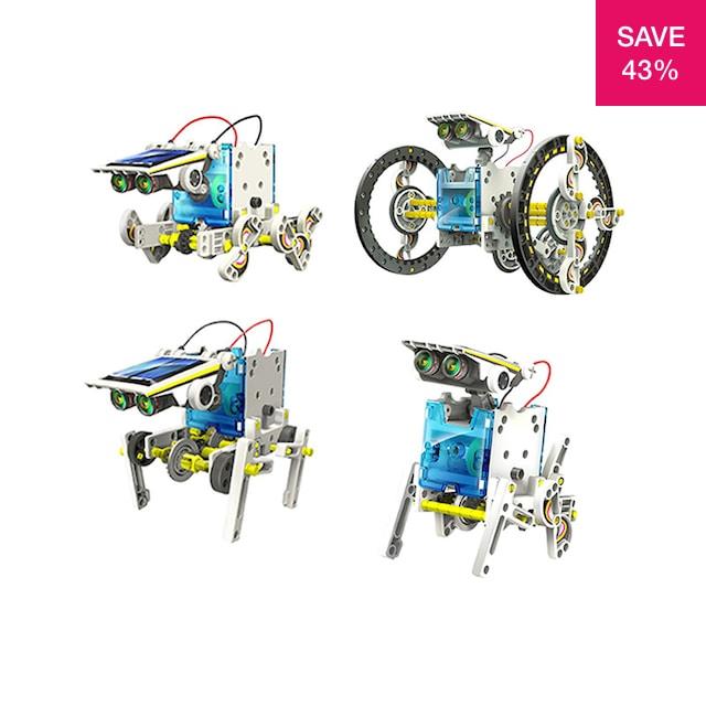 43% off on 14 in 1 Educational Solar Robot Kit