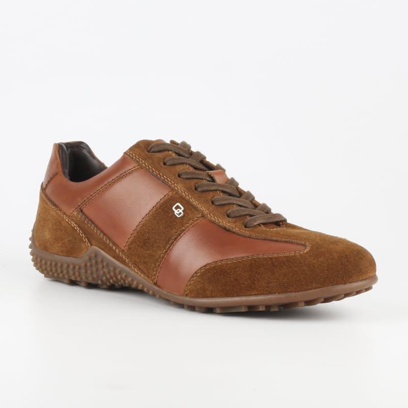 Men's Tan Leather Romano Shoes