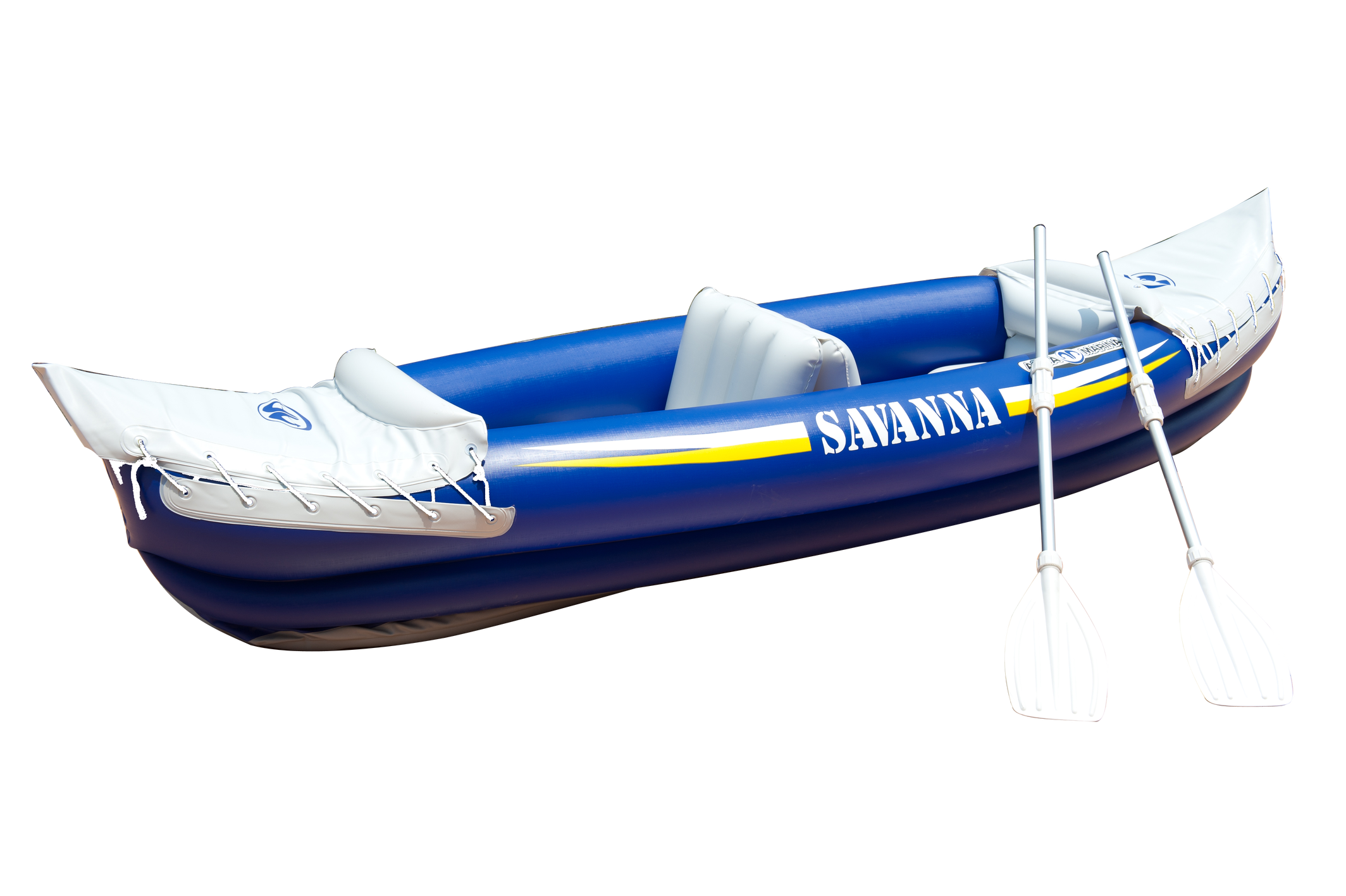 Aqua Marine Inflatable Double Kayak Inc Pump Paddles.