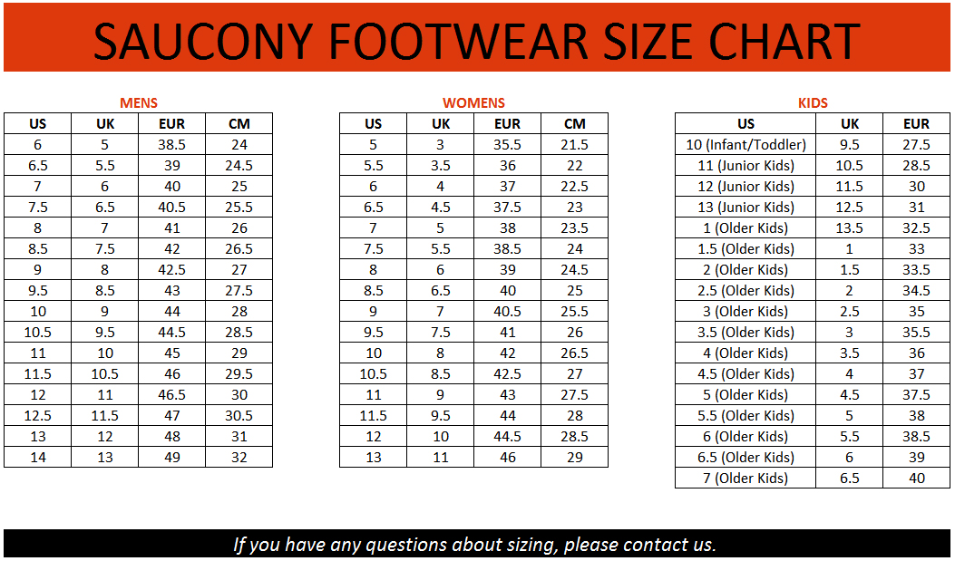 saucony size guide,Free Shipping,OFF61