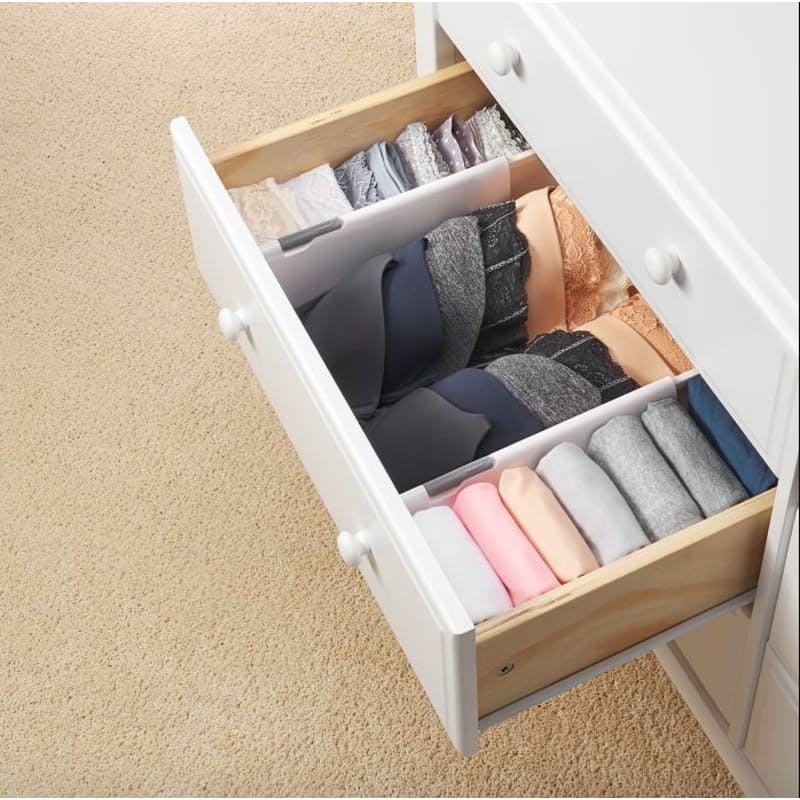 Pack of 2 or 4 Expandable Drawer Dividers