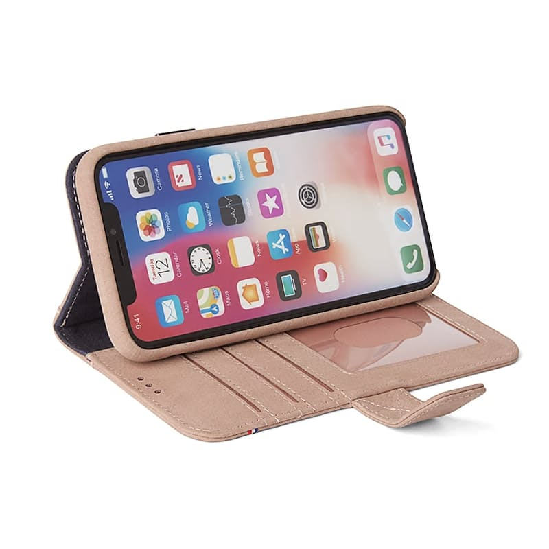 Full Grain Leather iPhone 2-in-1 Wallet Case with Removable Cover (6,6s,7,8,X & Plus models)