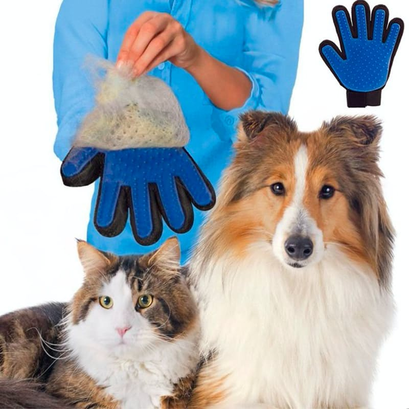 Pet Grooming & Deshedding Glove Brush