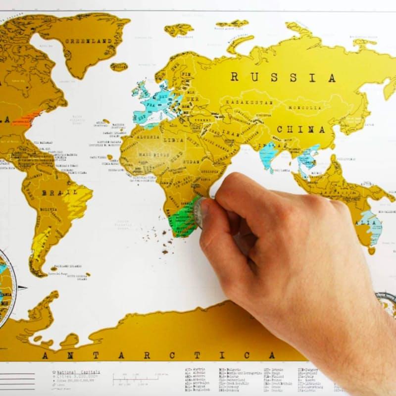 Original World Scratch Map Poster