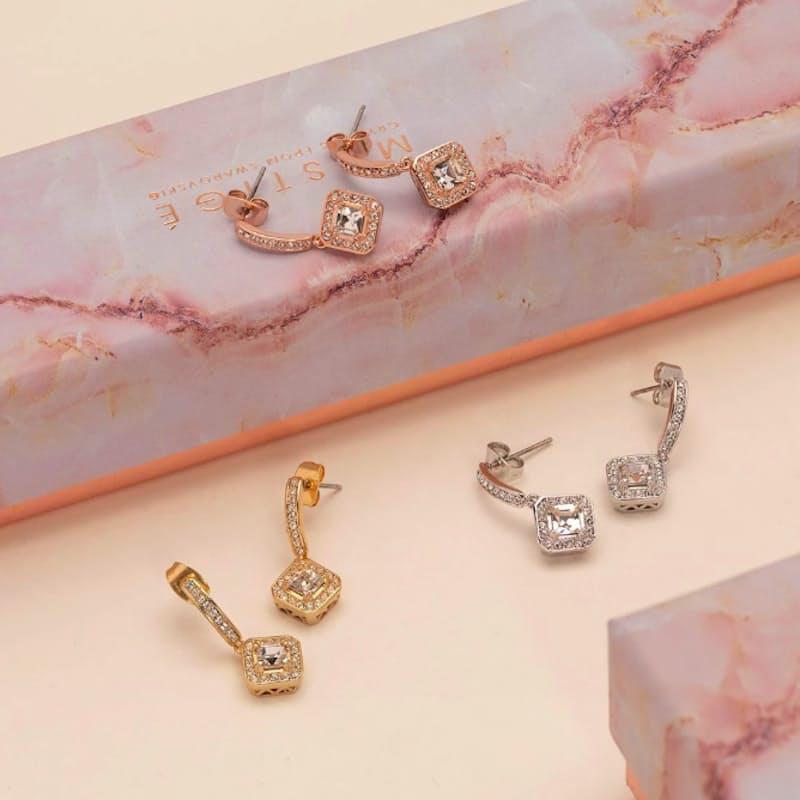 Elina Earrings with Swarovski Crystals
