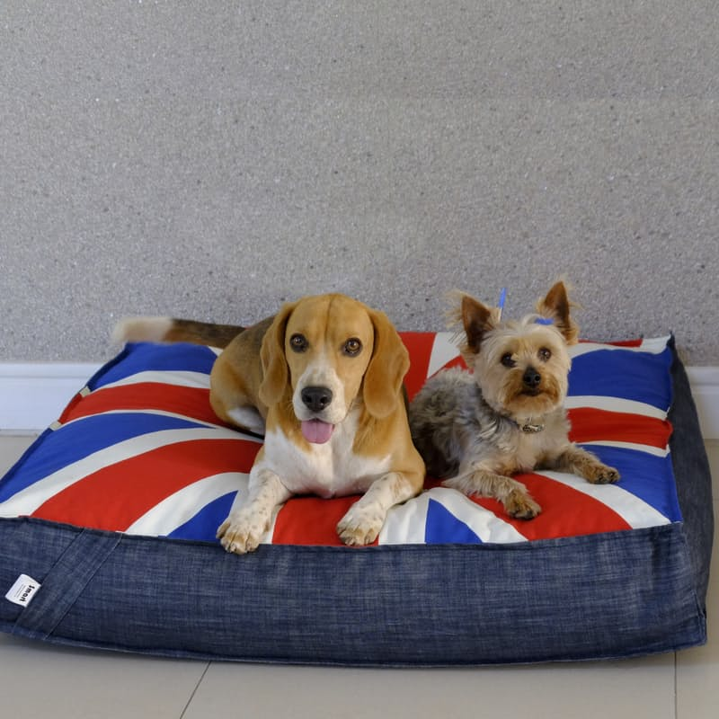 Waterproof Union Jack Pet Beds with Removable Cover