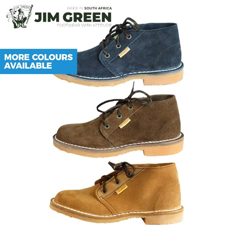 Unisex Genuine Leather Suede Veldskoens