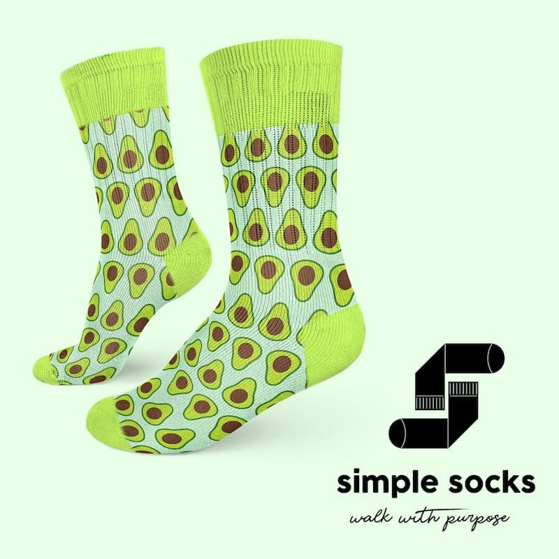 2 Pairs of Funky Printed Socks