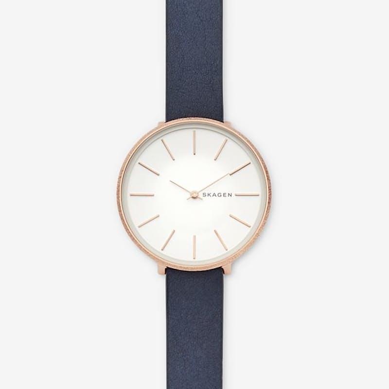 Ladies Karolina Blue Leather Watch