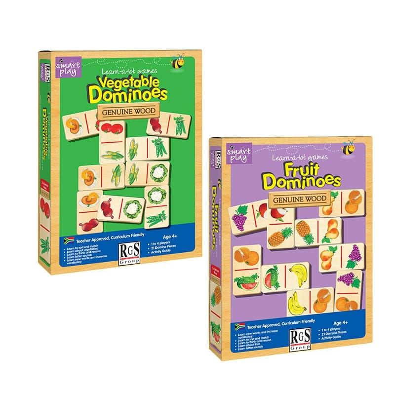 Children's Learning Wooden Fruit & Vegetable Dominoes